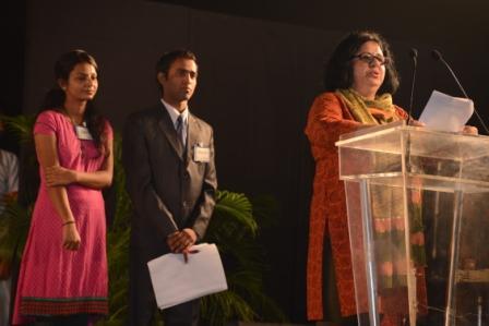 Dr. Kiran sums up Asha's Higher Education Programme and introduces Mahinder and Babita