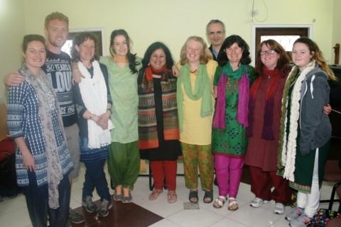 Team from Ireland visits Mayapuri slum colony
