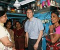 Mr Jonathan Tow, Deputy High Commissioner, Singapore visits Jeevan Nagar slum colony
