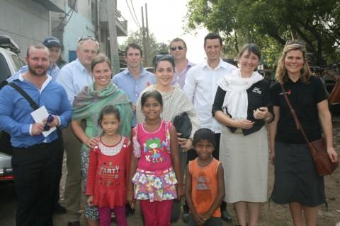 Nuffield International Farming Scholars visit Mayapuri slum colony