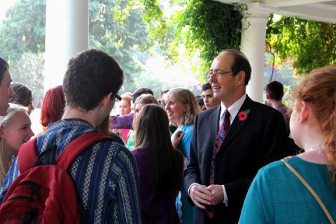 His Excellency Sir James Bevan hosts high tea for Asha volunteers