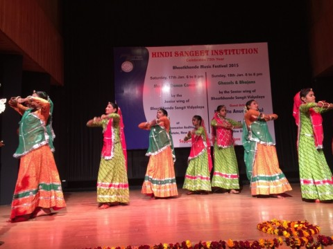 Asha children at 75th Anniversary Celebrations of Bhaatkhande Sangit Vidyalaya