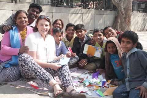 Team from Monash University volunteers at Jeewan Nagar slum colony
