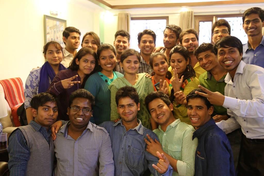 Asha Student Ambassadors at Dr. Kiran's residence
