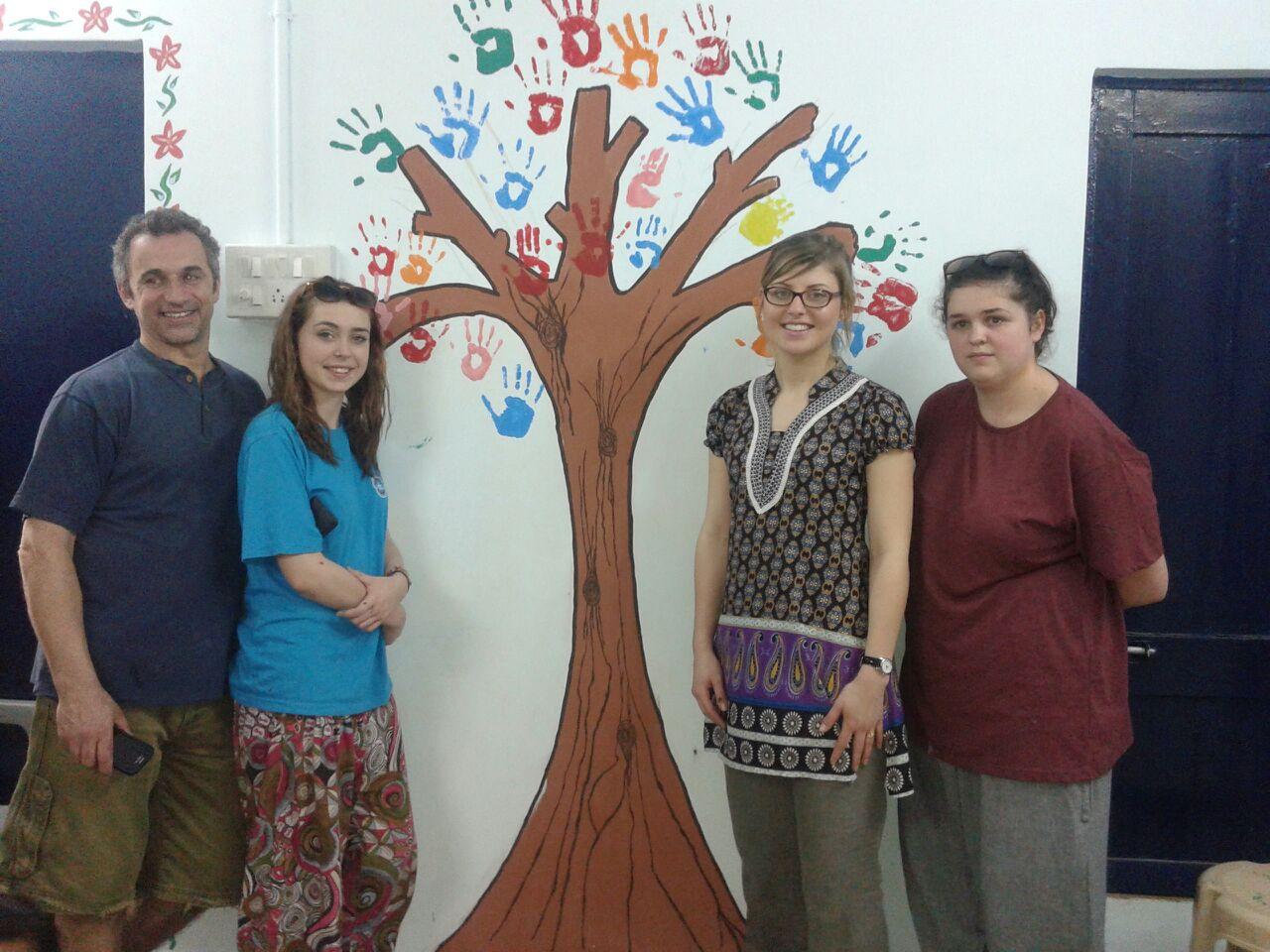 Members of  Global Generation Church painted the newly refurbished Asha centre at Anna Nagar