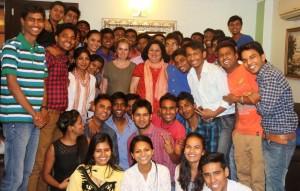 Dr Kiran congratulates Internship Students