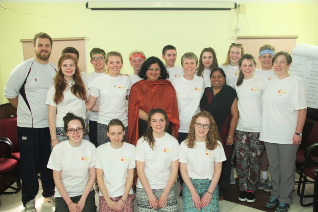 Royal School Armagh volunteers at Asha