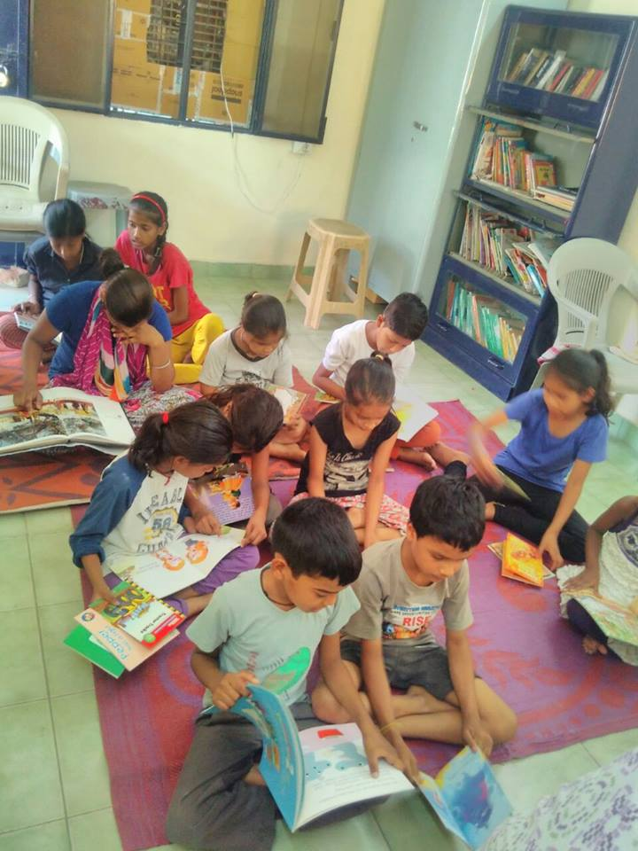 Children at Dr Ambedkar slum colony centre