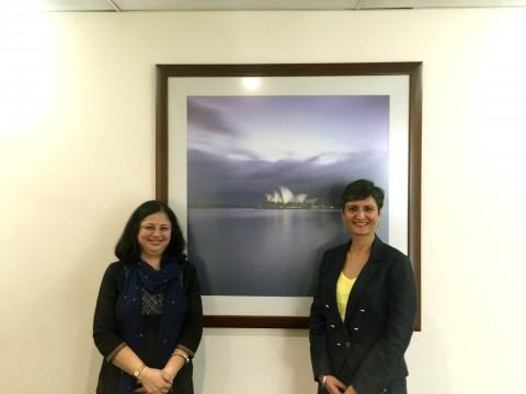 Dr Kiran meets Australian HC Ms Harinder Sidhu