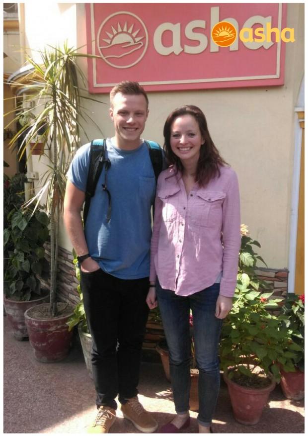 Dave and Chloe from River Church UK volunteered at Asha
