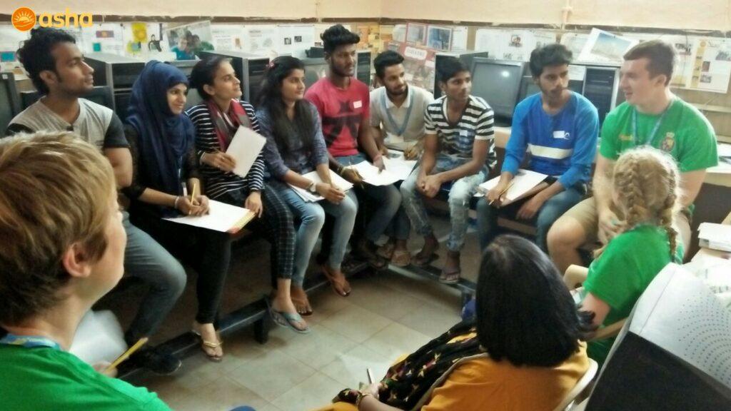 Interactive session between Royal school students and Asha graduates