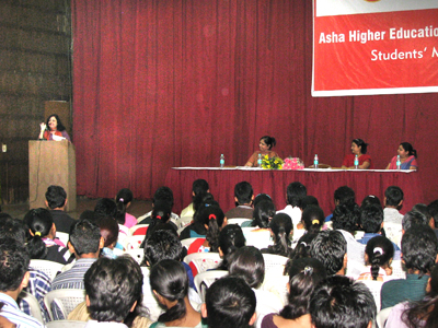 Dr. Kiran addressing the students