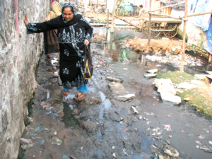 Poor environmental conditions and a lack of awareness mean that preventable diseases are rife in a typical slum