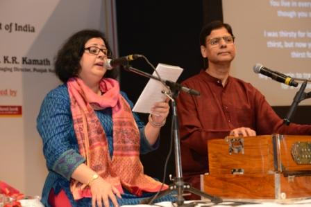 Highlight of the evening was Ghazal performance by Dr Kiran Martin and Guru Vinod Kumar