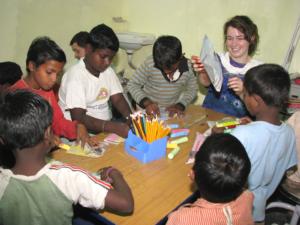 A crafts workshop in progress at Anna Nagar slum colony