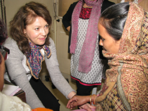 Dr Elaine Smith, Rheumatologist from UK at Asha clinic