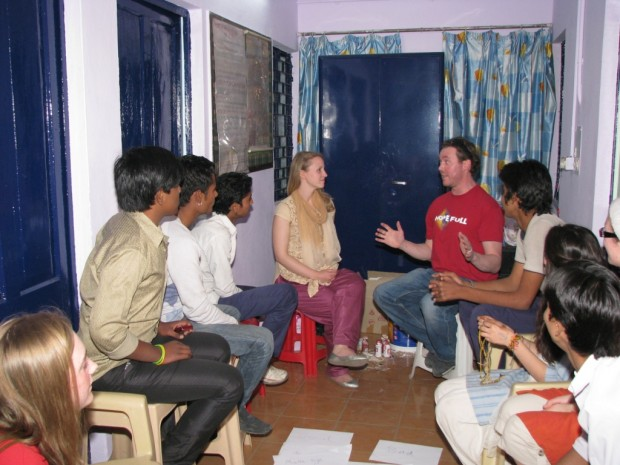 Teams from Methodist College and St Stephen's Church visit Asha