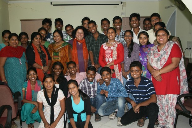 Dr. Kiran meets Asha College Freshers