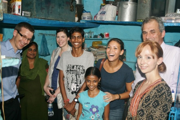 Visitors from British High Commission and Melbourne University visit Jeevan Nagar slum colony