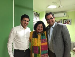 Dr Kiran with Mr Philip Catania, Partner (IT & IP) and Mr Arvind Dixit, Senior Associate from Corrs Chambers Westgarth, Australia at Asha Headquarters