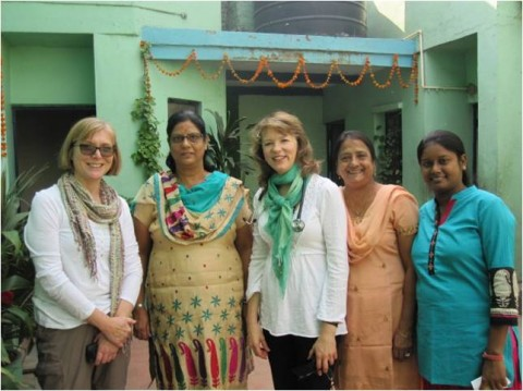 Return visit to Asha slums October 2013: Dr Elaine Smith