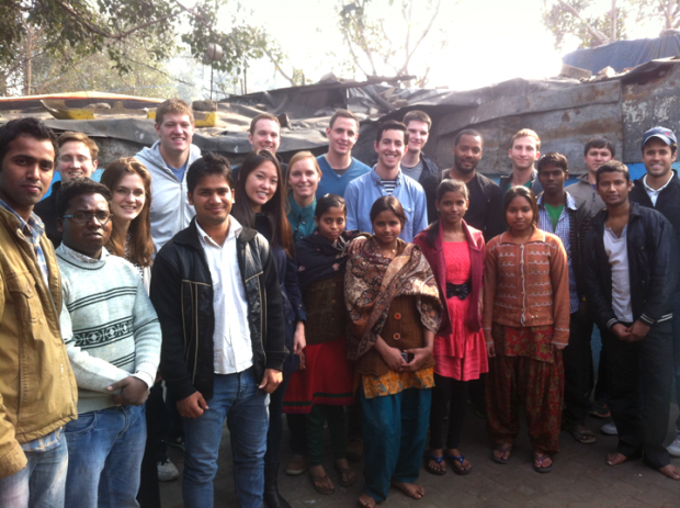 Harvard Business School students visit Asha's Zakhira slum colony