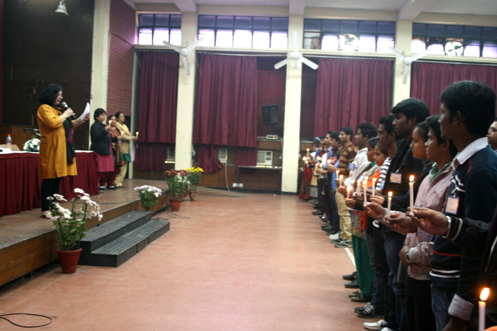 Dr Kiran's leads the Student Ambassadors to take oath of serving their community