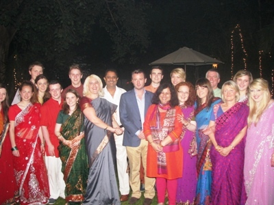 H.E. Feilim McLaughlin and Dr. Kiran with the team at the dinner reception