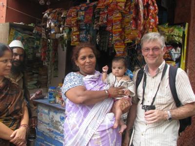 Nigel with a loanee from Kalkaji