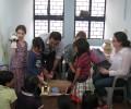 Children from the British High Commission Bring Gifts for Slum Children