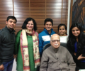 LK Advani meets college students from Asha slum