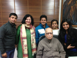 LK Advani with college students