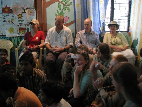 Team from Onslow College, New Zealand visits Mayapuri slum colony