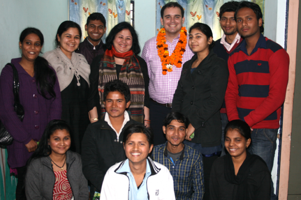 HE Michael Appleton, Acting High Commissioner, New Zealand visits Jeevan Nagar slum colony