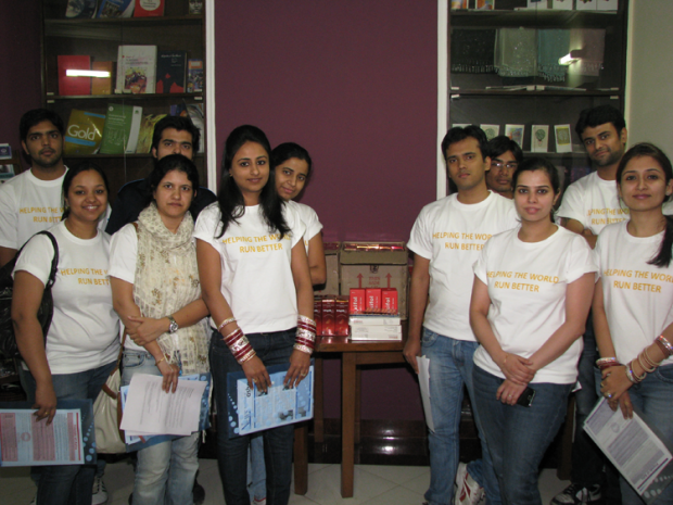 Team of Professionals from SAP Labs visit Asha slum