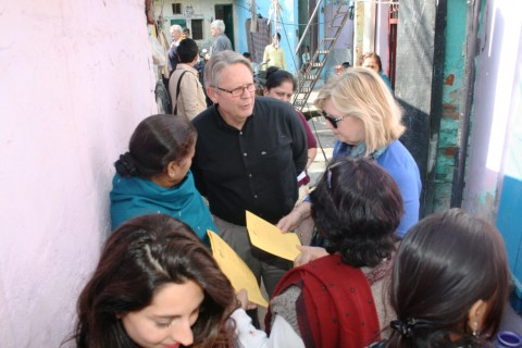 Friends of Asha from Australia visit Kanak Durga slum colony