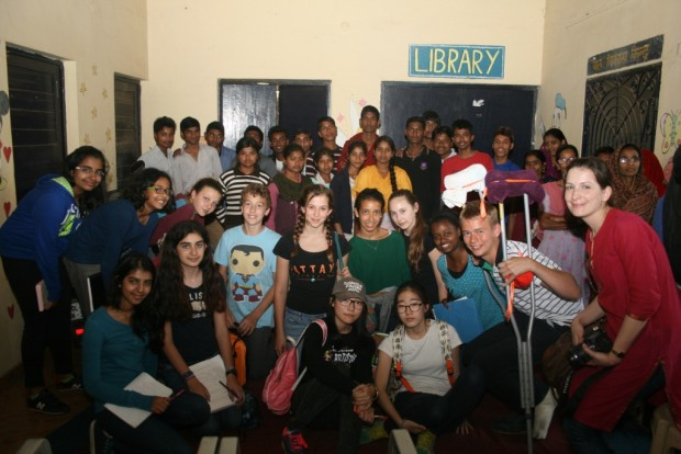 American Embassy School students visit Kusumpur Pahari slum colony