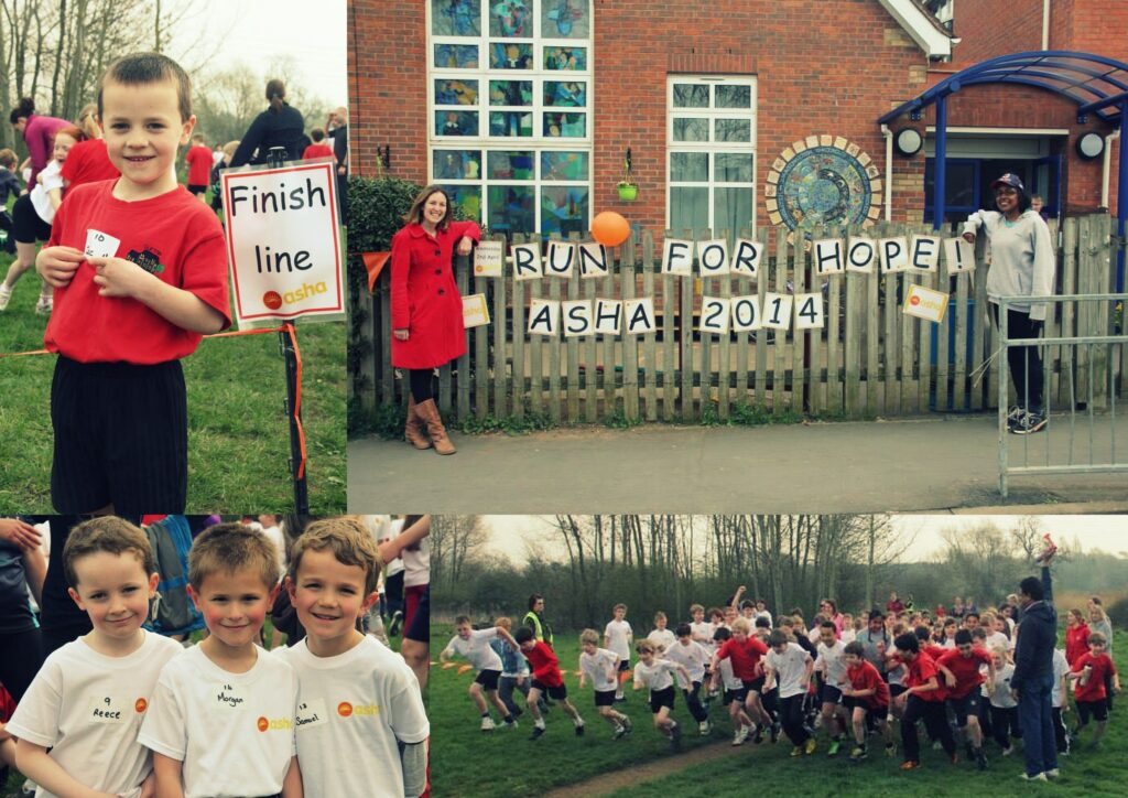 """Clifton Upon Dunsmore School children participating in """"Run for Asha 2014"""""""
