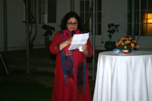Dr Kiran speaking about the Friends of Asha