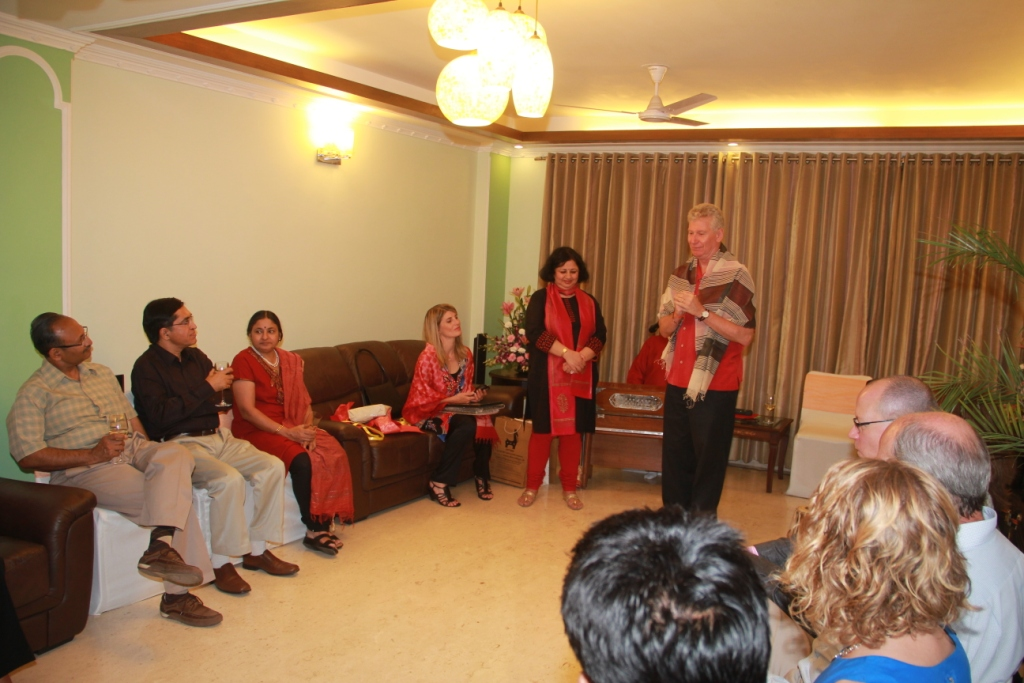 Canadian High Commissioner, HE Stewart Beck talking about his journey with Asha