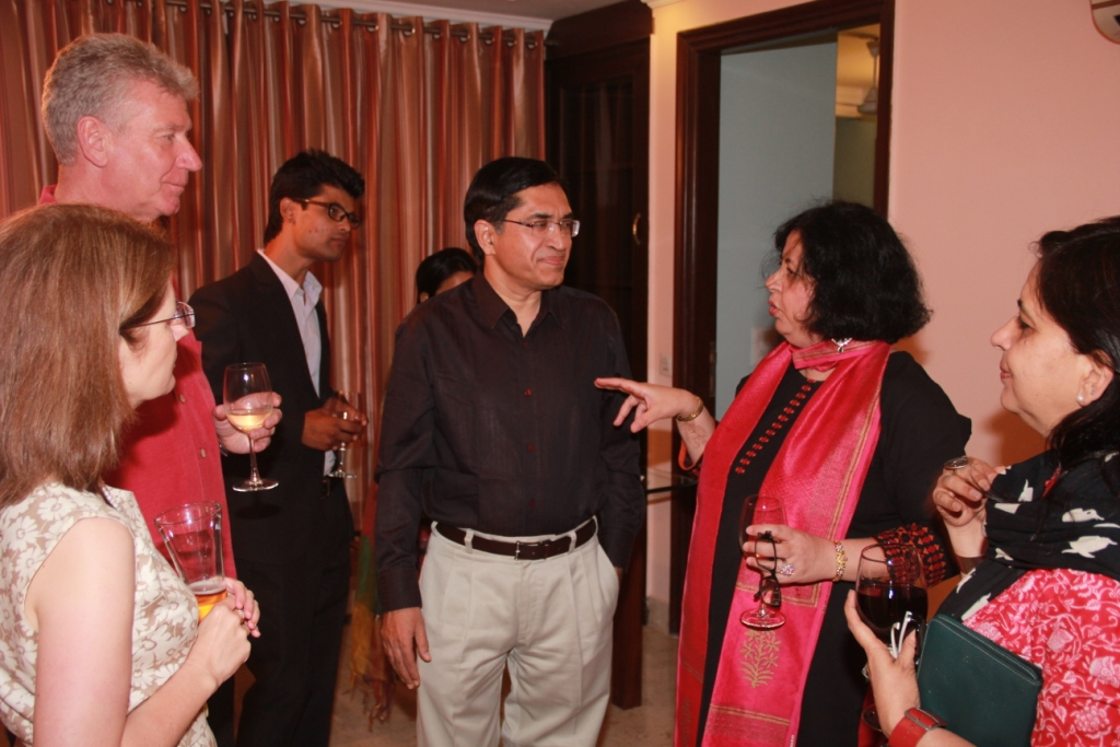 Dr Kiran interacting with the guests