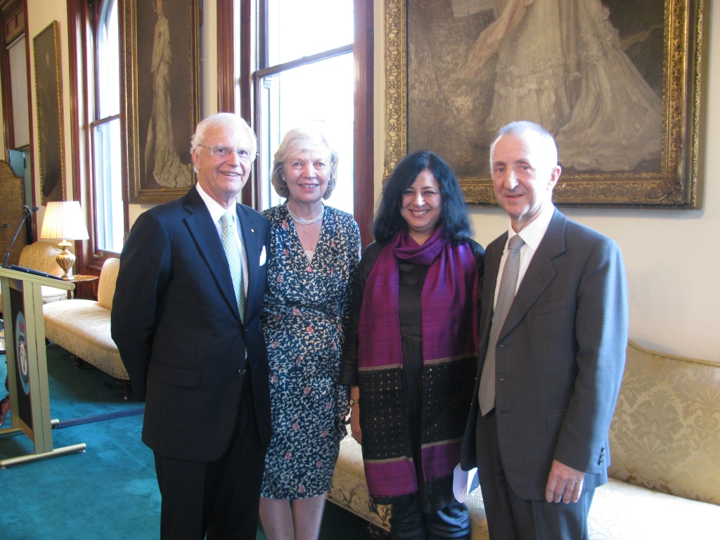 Kiran Martin with Hon. Alex Chernov AC QC, Mrs Chernov and Mr Robert Johanson at the launch event