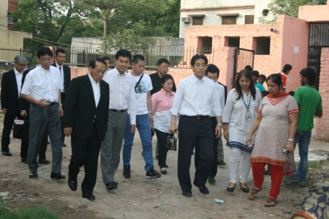 Delegation of Japanese Members of House of Representatives visits Asha