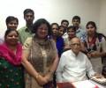 LK Advani congratulates new university entrants from Asha slum communities