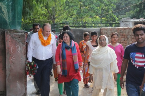 Secretary of State for Energy and Climate Change, UK visits Asha