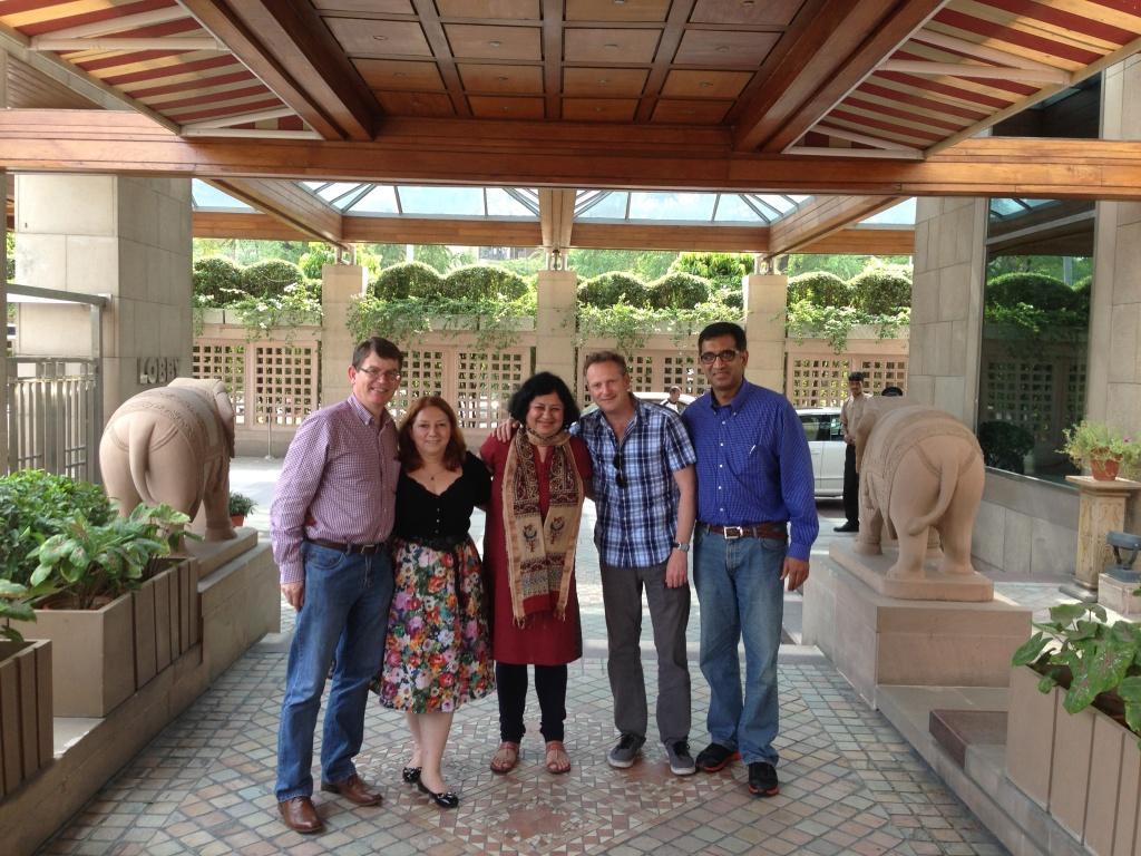 Dr Kiran with Harish Rao and team