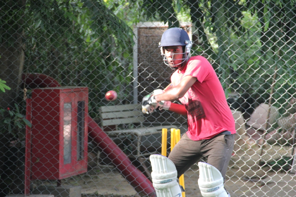 Asha student during the net practice  at Australian High Commission