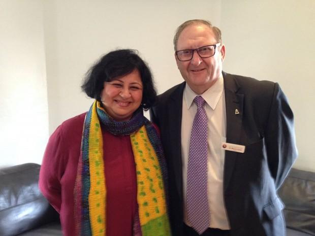 Dr Kiran visits Bendigo Health and Bendigo Bank