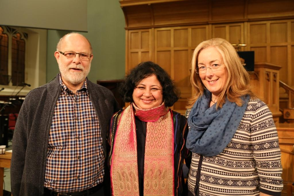 Dr Gwyneth Easson and Mr Easson with Dr Kiran