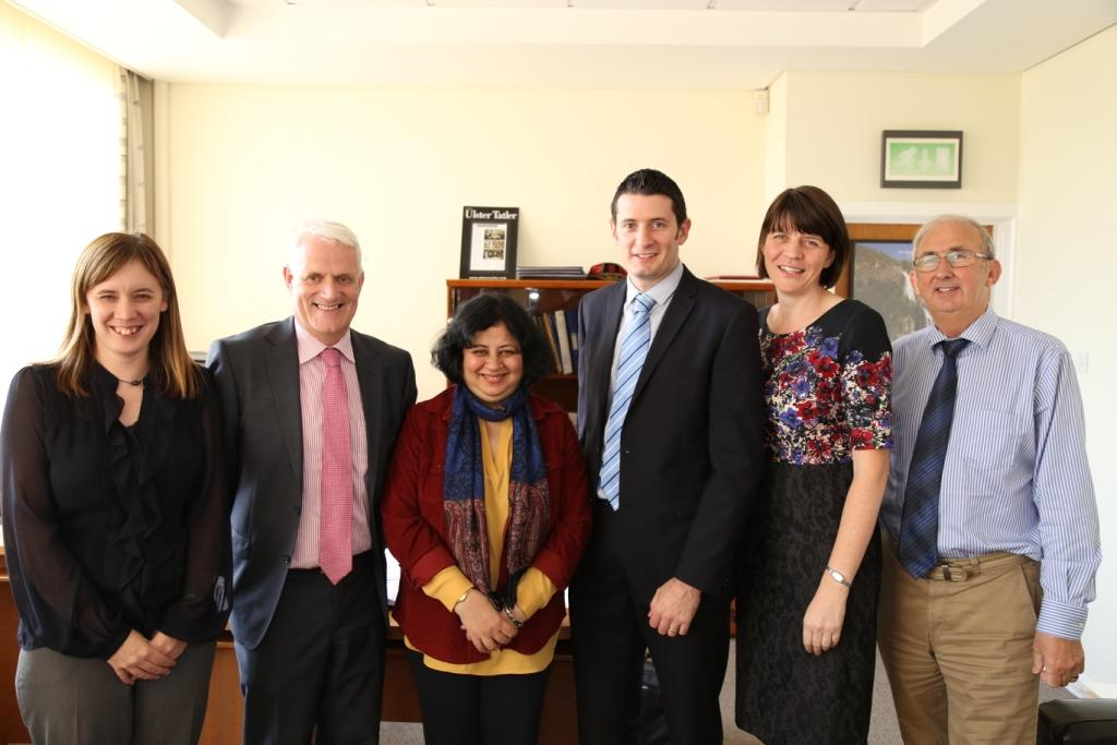Toni (Team Leader), Mr Stephen Black (Head of the School), Dr Kiran